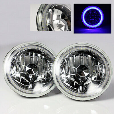 "1965-1973 Ford Mustang 7/"" Round 6014//6015//6024 Amber LED SMD Halo Headlights"