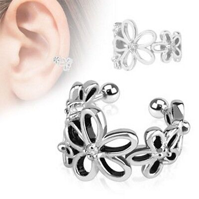 Ear Cuff Ohrstecker # BLUME # Ohrring Conch Fake-Piercing Clip-On Ohrstecker