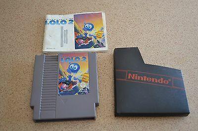 Ad Ventures Of Logo 2 Nes Game & Instruction Manual