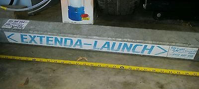 Extendable draw bar for beach or shallow ramp launching for your boat.