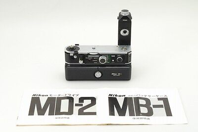 EXC+++++ Nikon MD-2 Motor Drive + MB-1 Battery Pack for F2 from JAPAN #Z231