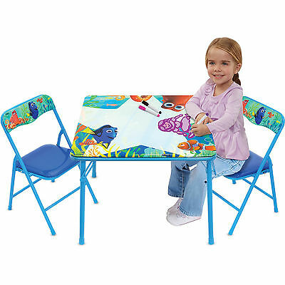 Disney Kids Finding Dory 3 Erasable Markers With Erasable Chairs Table Set BEST  sc 1 st  PicClick & Kids Table and Chairs Set Children Erasable Desk DISNEY Cars Steel 3 ...