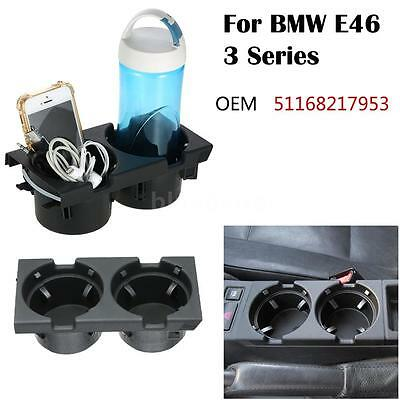 #51168217953 Front Console Dual Drink Cup Holder For BMW E46 3 Series 99-05 P3B5