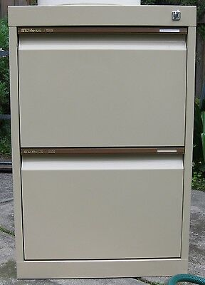 "Metal Anti-tilt 2 drawer FILING CABINET ""Statewide"" with key &suspension files"