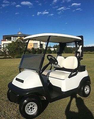 Late 2013/2014 48V Electric Club Car golf cart buggy - White Precedent