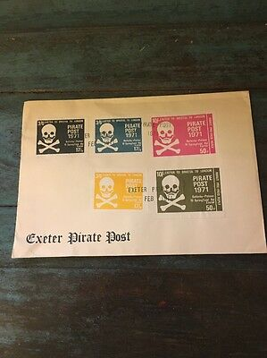 1971 Uk Fdc Strike Mail Exeter Pirate Post Cover
