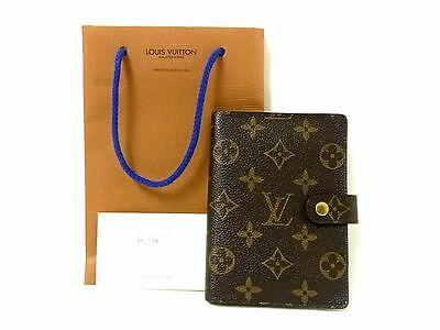 Auth Louis Vuitton Monogram Agenda Leather Day Planner Organizer Diary 6 Ring