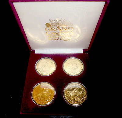 1993-94 Four WINDS coins GRAND casino HiNkLeY-MILLE LACS MN collector TOKEN set