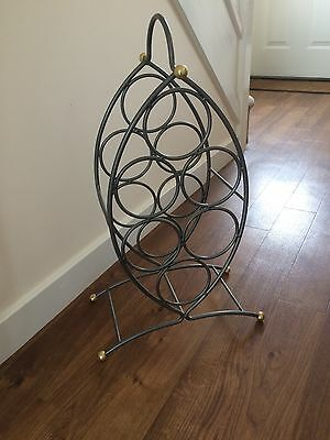 Metal Two Tone Wine Rack collect from Aylsham, Norfolk