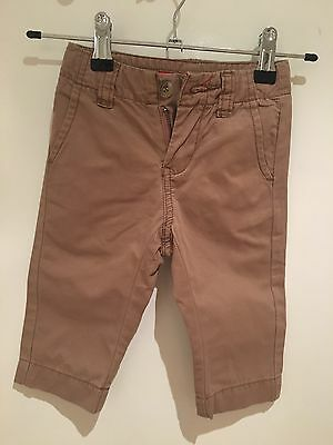 Seed Heritage Baby Boy Chinos Size 6-12 Months Colour: Taupe/Brown