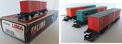 LIMA 302870 Freightliner Container wagons x 3 (1 is Boxed)