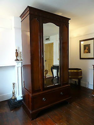 STUNNING 'Maple & Co' QUALITY TALL MAHOGANY EDWARDIAN WARDROBE ARMOIRE