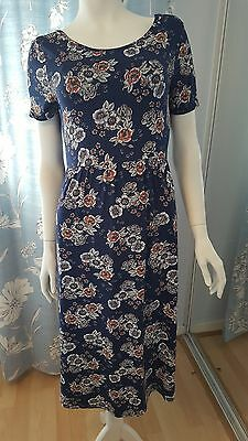 Dorothy Perkins Blue Floral Maternity Dress Size 12 Bnwt