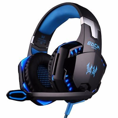 LED 3.5mm Gaming Headset MIC Headphones Surround for PC Mac Laptop PS4 Xbox One