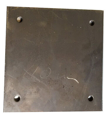 "8"" x 8"" x 6mm Steel Plate with slot (Pack of 10)"
