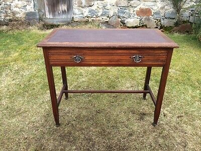 Edwardian Leather Top Desk / Hall Table