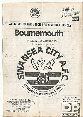 SWANSEA CITY v AFC BOURNEMOUTH   FRIENDLY