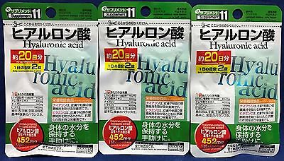 JAPAN Hyaluronic Acid Supplement 20days×3pacs made In Japan Free Shipping