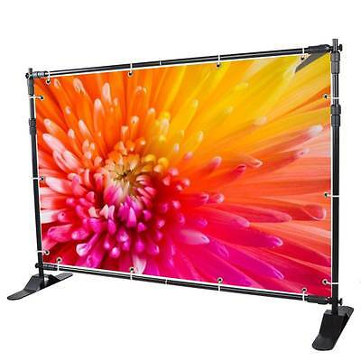 10' Banner Stand Display Backdrop Telescopic Adjustable Background Trade 8'x8'