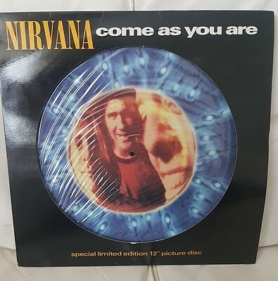 """Nirvana come as you are 12"""" picture disc"""