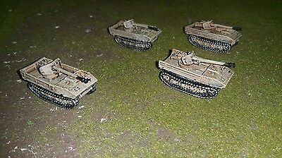 4 x German RSO 75mm Pak 40 anti-tank guns, Flames of War, wargaming, 15mm