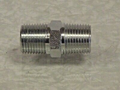"1/4""NPT Male to 1/4""Bsp Male Adaptor Nipple in zinc coated steel for Air,Oil"
