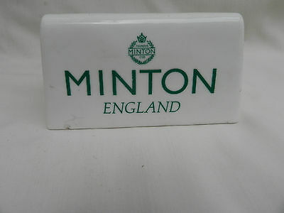 Original China Advertising PLAQUE, MINTON ENGLAND 10cm x 5.5cm.(Double sided)