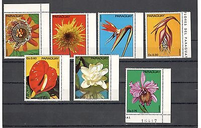 Paraguay 1973 Flowers Mnh