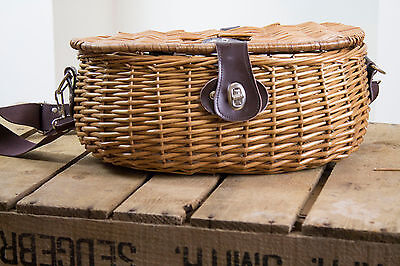Fishing Creel - Small Wicker Basket for Storage, Gift or Display