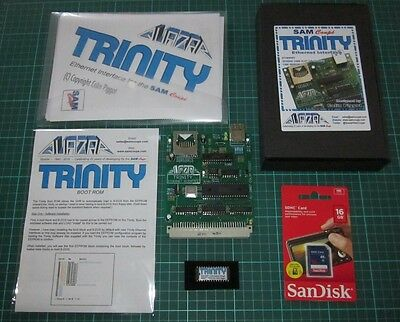 Trinity Ethernet Interface + BOOT ROM + 16GB SD Card bundle for SAM Coupe *NEW*