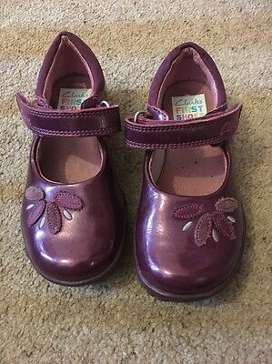 Clarks Patent Shoes Girls 6f