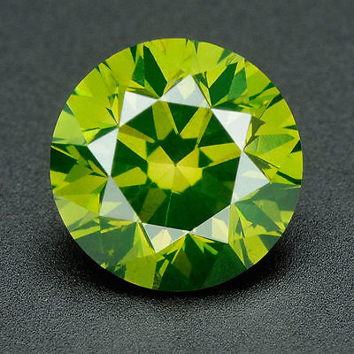 CERTIFIED .062 cts Round Cut Vivid Green Color VS Loose Real/Natural Diamond 36D