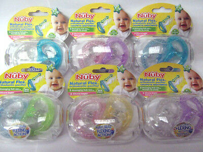 Nuby Natural Flex Orthodontic Soother 6-18M  2 In Pack 6 Colours Choice Bpa Free