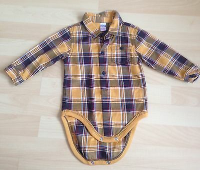 Boys Next Checked Shirt/ Body Suit Shirt Size 9-12 Months