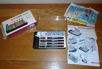 Vintage Rotring 2000 Isograph Technical Drawing 4 Pen Set. Boxed