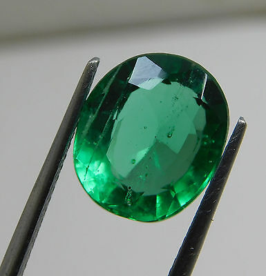 Certified 5.20 Ct. Natural Oval shape Colombian Loose Emerald Gemstone. D938