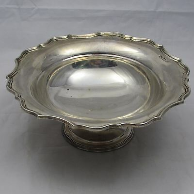 LOVELY ANTIQUE SILVER FOOTED DISH BOWL BARKER BROTHERS CHESTER 1911 289 g