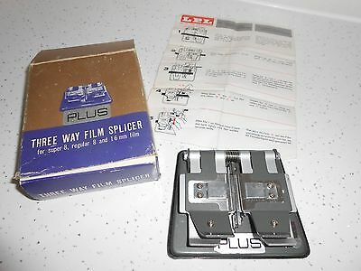3 Way Film Splicer Super 8 Regular 8 and 16mm Film