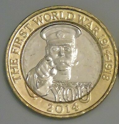 2014 £2 Coin, First World War, Rare Two Pounds Uncirculated