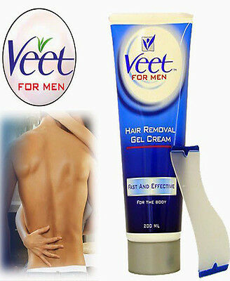 Veet for Men Hair Removal Gel Cream, 200 ml - NO RAZOR RASH - WORKS IN SHOWER