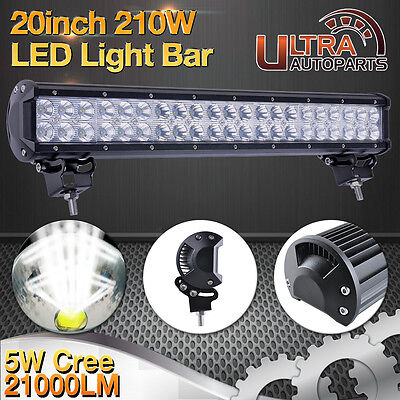 """210w 20""""inch LED Work Light Bar CREE Flood&Spot Combo 4x4WD Offroad Driving 240W"""