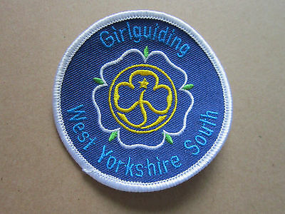 West Yorkshire South Girl Guides Woven Cloth Patch Badge