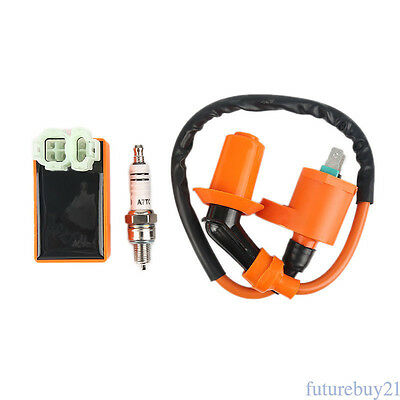 Performance Racing CDI+Ignition Coil+Spark Plug Gy6 50/125/150cc Scooter ATV AU