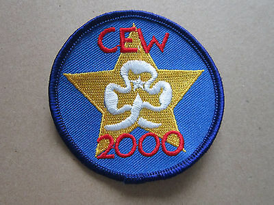 CEW 2000 Girl Guides Woven Cloth Patch Badge