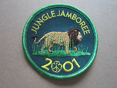 Jungle Jamboree 2001 Girl Guides Woven Cloth Patch Badge