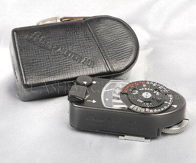 Leica Meter MR-4 Light Meter Black Chrome w/case fit M4 M2 M3 from JAPAN #013264