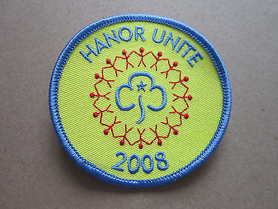 Hanor Unite 2008 Girl Guides Woven Cloth Patch Badge