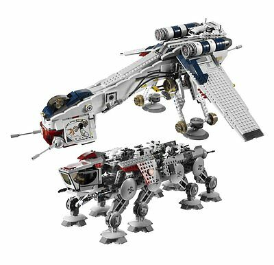STAR WARS REPUBLIC DROPSHIP with AT-OT WALKER 10195 BRAND -NEW- Fits Lego