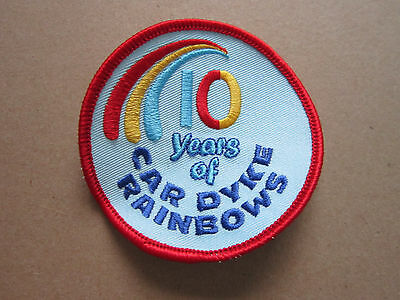Car Dyke Rainbows 10 Years Girl Guides Woven Cloth Patch Badge