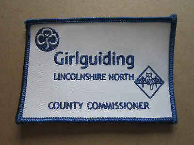 Lincolnshire North County Commissioner Girl Guides Woven Cloth Patch Badge
